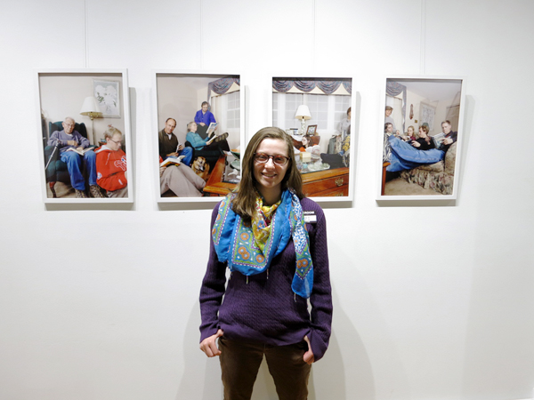 "Me with my photo ""The Reading Room"" at the Darkroom Gallery"