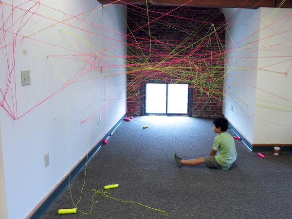 A string installation by New American Public Art