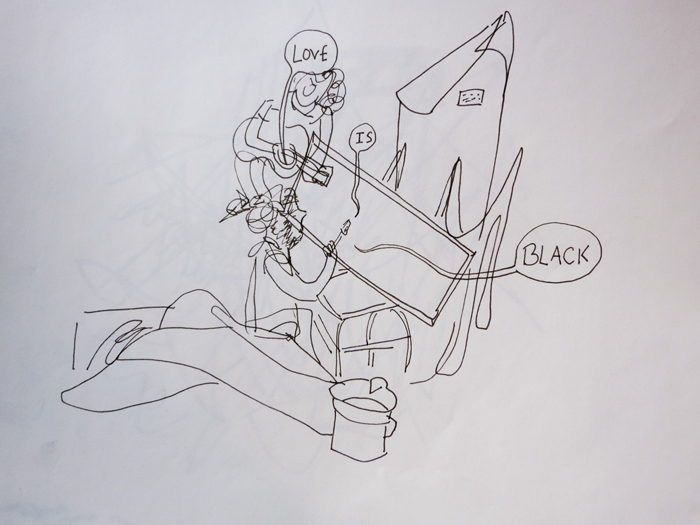 Drawing by Suzi Grossman