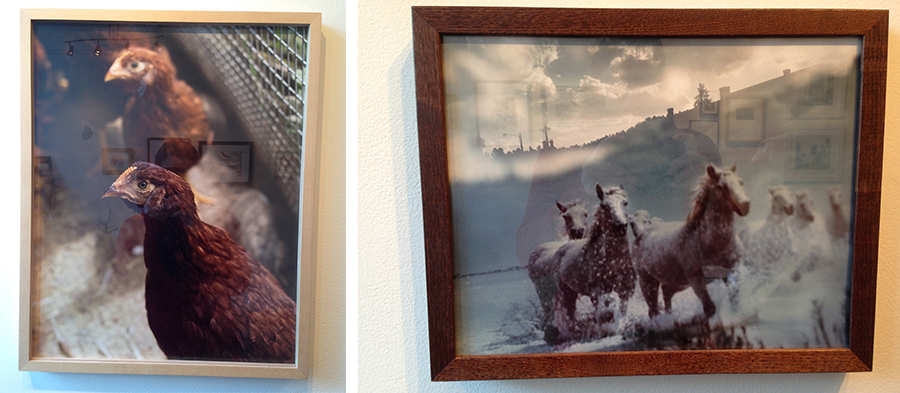 "Left: ""Untitled"" by Lindsay Metivier, Right: ""Untitled"" by Genesis Baez"