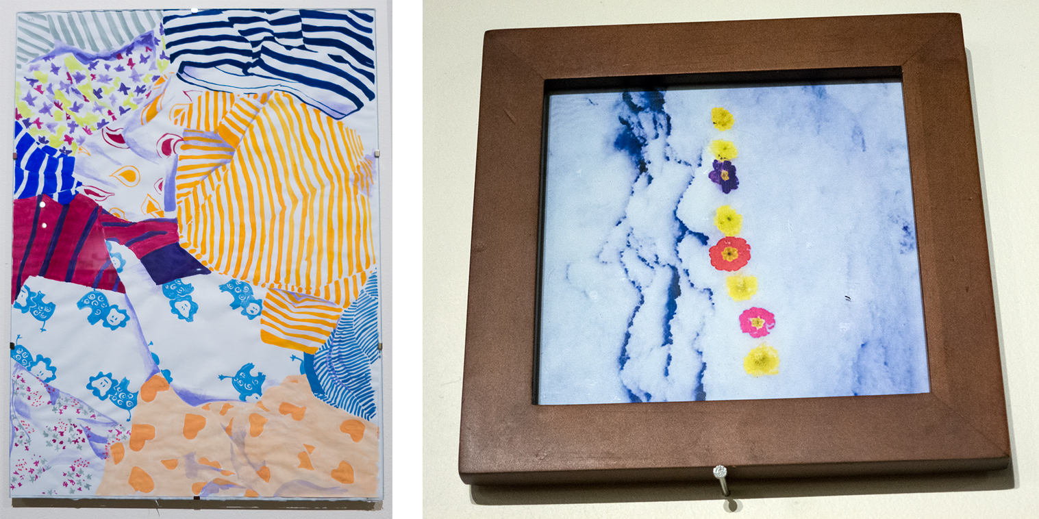 """Left: """"Love For Days-A-Day"""" by Katie Flynn, Right: """"Site-A-Day"""" by Allison Meierding"""